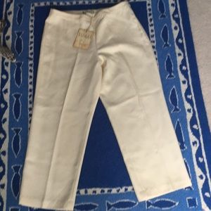 NWT Tommy Bahama 100% Silk Crop Pants Size 8